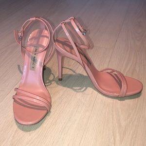 Zara pink heeled sandal- PLEASE READ DESCRIPTION